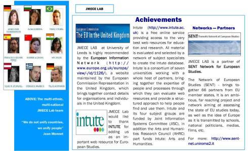 JMECE Lab Achievements