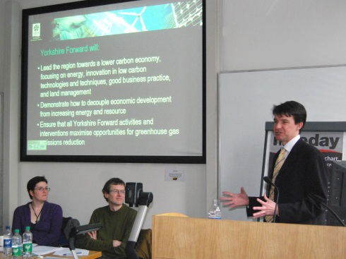 Dr Stephen Brown, the Sustainable Development Manager at the regional development agency Yorkshire Forward
