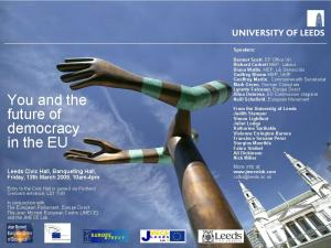 """You and the future of democracy in the EU"" poster"